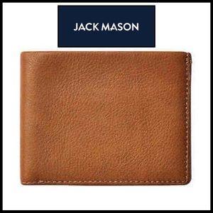 Jack Mason Selvedge Tan Leather Bifold Wallet. 🆕